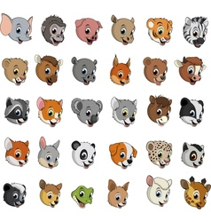Exotic animals funny vector