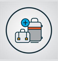 Extra baggage icon colored line symbol premium vector