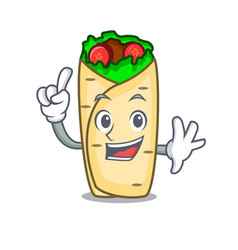 finger burrito mascot cartoon style vector image