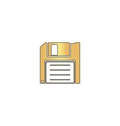 Floppy disk computer symbol vector