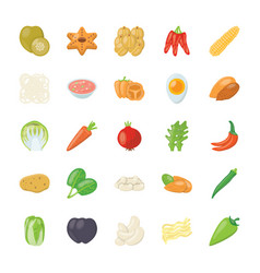 food ingredients icon pack vector image
