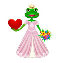 frog in love vector image