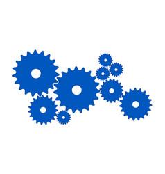 Gears in blue design vector