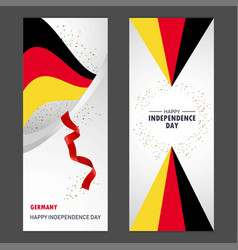 germany happy independence day confetti vector image