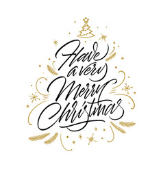 have a very merry christmas card vector image