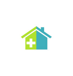 house medic hospital logo vector image
