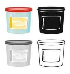 Isolated object bucket and putty icon graphic vector