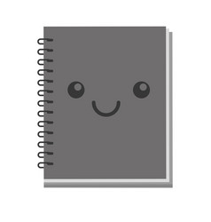 Kawaii note book vector