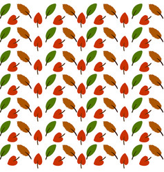 leaves wallpaper on white background vector image