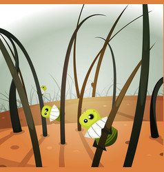 lice invasion inside hairy landscape vector image