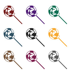 lollipop icon in black style isolated on white vector image