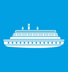 Long ship icon white vector