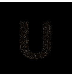 Magic U letter vector image