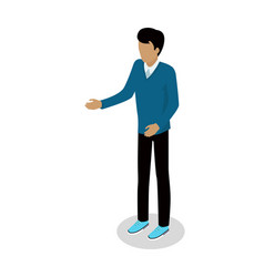Man in casual clothes isometric icon vector