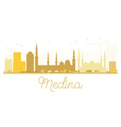 Medina City skyline golden silhouette vector
