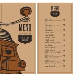Menu for a cafe shop vector