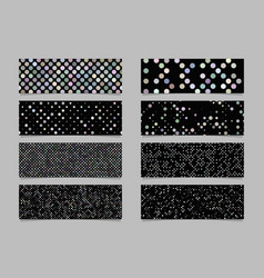 modern abstract dot pattern banner background set vector image