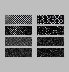 Modern abstract dot pattern banner background set vector