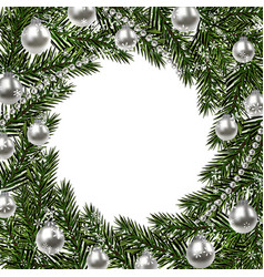new year christmas a green branch of spruce in a vector image