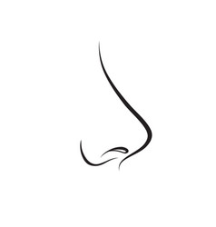 Nose isolated human nose icon vector