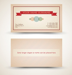 old-style retro vintage business card vector image