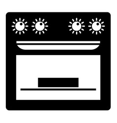 pie in gas stove icon simple style vector image