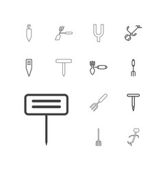 Pitchfork icons vector