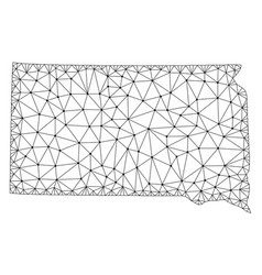 Polygonal wire frame mesh map of south vector