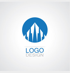 round building abstract logo vector image