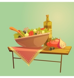 Salad Cartoon Concept vector