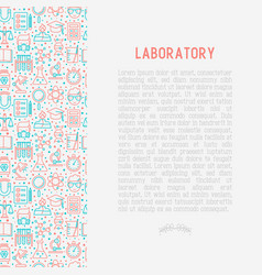 science and laboratory concept vector image
