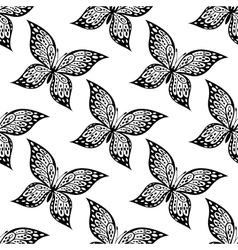 seamless pattern beautiful butterfly vector image
