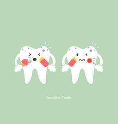 Sensitive teeth vector