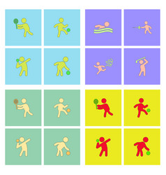 Set olympic game design vector