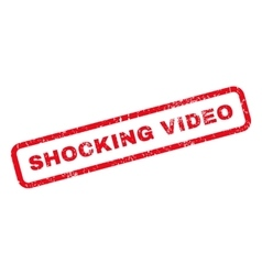 Shocking Video Rubber Stamp vector