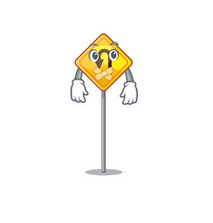 Silent u turn sign isolated character vector