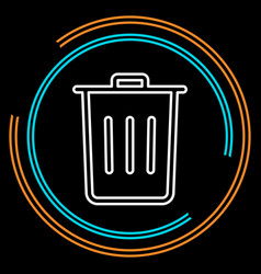 simple trash thin line icon vector image