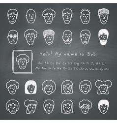 Sketchnote Avatars vector image