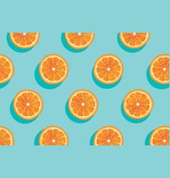 Slices of fresh orange summer background vector