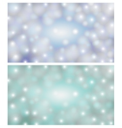 Space background of a blue-light vector image