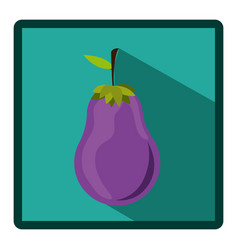symbol eggplant icon image vector image