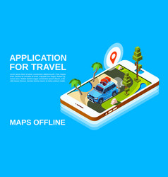 travel maps application vector image