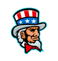 Uncle sam mascot vector