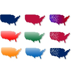 usa stickers set vector image