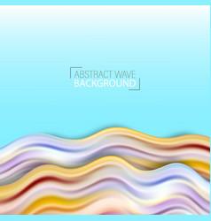 wave liquid shape color background art design vector image