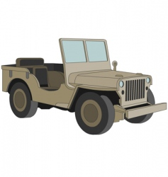 Willys jeep WW 2 vector image