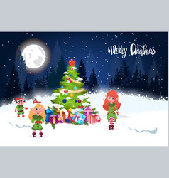 winter holidays background merry christmas vector image