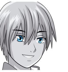 Young man manga anime vector