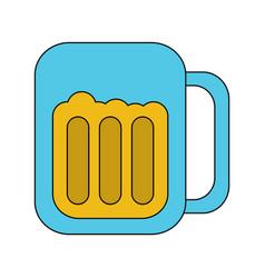 glass beer drink liquor beverage icon vector image
