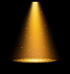 gold spotlights vector image